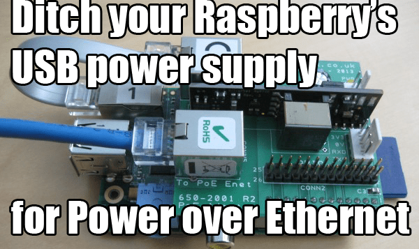 Power A Raspberry Pi Without A USB Cable Using Power Over Ethernet (PoE)