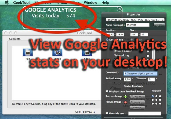 OAuth 2.0 Google Analytics on Your Desktop Using GeekTool Using Bash and cURL