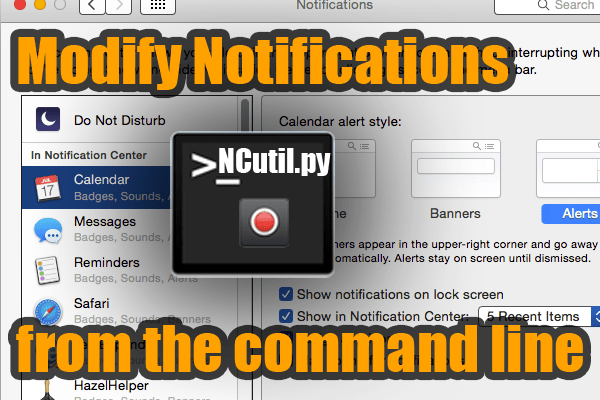 OS X Yosemite Notification Center Command Line Utility For Scripting And More