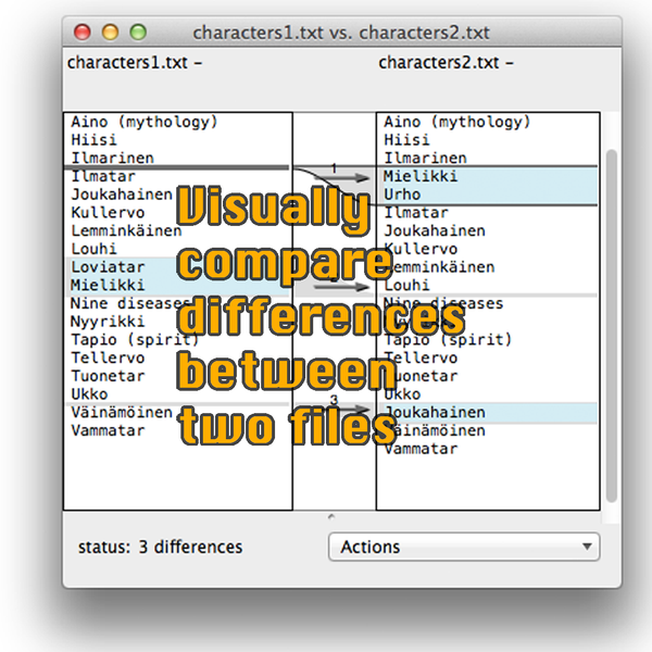 OS X: Visually Compare Differences Between Two Files