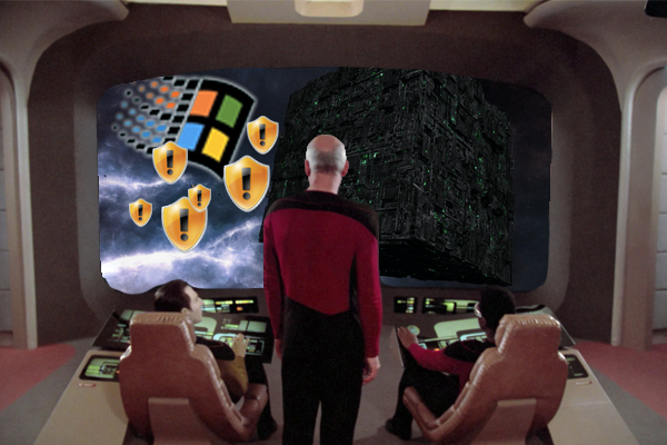 Microsoft Windows Infects The Borg